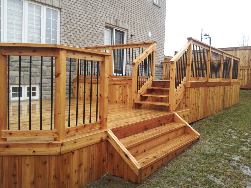 Residential decks eagle fencing for Balcony decking