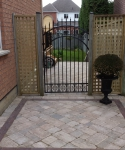 Square Lattice Screens with Wrought Iron Gate